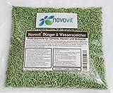 Novovit Dünger & Wasserspeicher Profi-Starthilfe für Gehölze, Hecken, Koniferen und Zierpflanzen Bodenverbesserer mit Stockosorb (1000g)