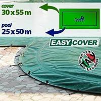 Telo di copertura invernale per piscina 25 X 50 mt - completo di borchie ed elastico