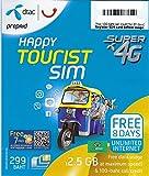 Sim Karte Thailand - Telefonieren & SMS 100 Baht - 2.5GB Daten 4G - 8 Tage - DTAC Happy Tourist