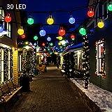 LED Luci Stringa Luci Decorative,SUVER Impermeabile 20ft 30 LED Solari Luci Led a Sfera Catena Luminosa,luce esterno solare Illuminazione per Giardino, per Decorazioni di Natale, Feste, Matrimoni (Multicolore)