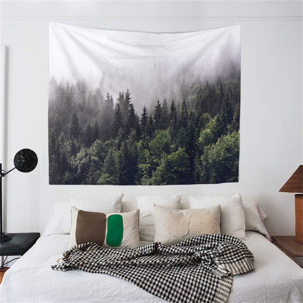 Telo da parete, coperta, copriletto, scialle leggero, decorazione per  camera da letto, telo mare, guida da tavolo con tema naturale foresta  mistica ...