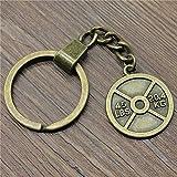 YCEOT Schlüsselanhänger 28X24 Mm Gewichtheben Gewicht Film Antike Bronze Farbe Männer Schmuck...