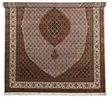 Nain Trading Indo Täbriz Royal 407x303 Orientteppich Teppich Beige/Lila Handgeknüpft Indien