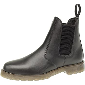 Mens Roamers Leather Chelsea Boots Cushioned lining Brown