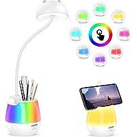 Aerb Lampe de Bureau, Lampe de Bureau Led Dimmable pour Protéger Les Yeux des Enfants avec 3 Modes d'éclairage,Lampe de…