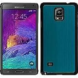 Funda Rígida para Samsung Galaxy Note 4 - metálico azul claro - Cover PhoneNatic Cubierta + protector de pantalla