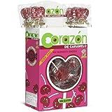 Cerdán Serie Oro Sabor Cereza Piruleta con Forma de Corazón Caramelos 110 Unidades de 11 g