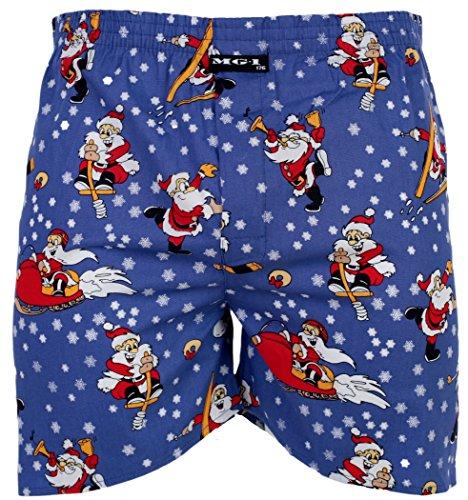 MG-1 Kinder Jungen Webboxer Boxershorts X-Mas Weihnachten Nikolaus Santa, Grösse:164, Präzise Farbe:Design 2