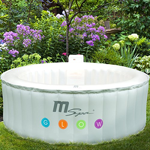Preisvergleich Produktbild Whirlpool In-Outdoor Pool Bubble Spa Wellness Massage Heizung aufblasbar Ø180x70cm 4 Personen LED-Farbwechsel 118 Massagedüsen digitale Steuerung