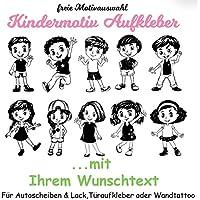 NEU Baby/Kinder Autoaufkleber ***JUNGE oder MÄDCHEN mit Ihrem Wunschtext + GRATIS Schmetterlingsset***(Motiv,- Größen.- und Farbauswahl)