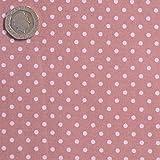 Gepunkteter Stoff, Rosa, 3mm, Meterware, 100% Baumwolle