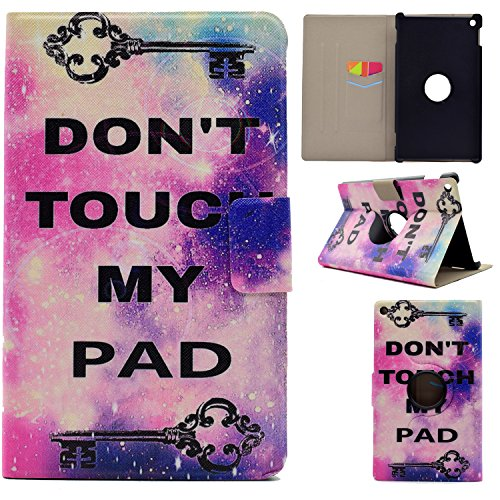Qiaogle Tablet Case - PU Leder Schutzhülle Case Cover für Amazon Fire HD 8 2016 (8 Zoll,2016 Version) - MM14 / Don't Touch My Pad
