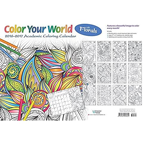 Color Your World Meditative Coloring with Florals 2016 17 Academic Desk Pad (12M JUL16) by Browntrout Publisers (2016-06-25)
