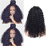 Maxine - Peluca de pelo humano de 180% de densidad para mujeres negras, pelo virgen...