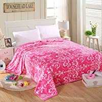 HHYWS Morbido e caldo buttare letto divano coperta di buttare il Cloud trigoni privo di pelucchi e caldo stile continentale - Rosa,230x250cm
