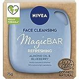 NIVEA MagicBAR Refreshing Mandeloil Face Cleansing Bar (75g), Vegan Face Cleanser, plastikfreie Gesichtsreinigungsstange, Ges