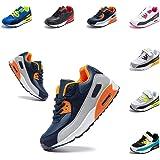 Zapatillas Niños Deportivas Zapatos de Correr Niña Transpirables Caminar Ligeras Antideslizante Hook and Loop Sneakers Cordon