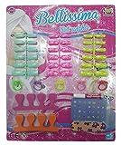 takestop Lot Jeu magnifique 36Tips Faux Ongles Tips Autocollant pour lime 5anneaux 2entretoises Stickers Manucure filles fillettes ans 5+