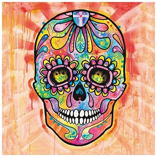 "Tree Free Grußkarten 97214 3,5 x 3,5 Zoll), ""Spektrale Sugar Skull-Motiv: Dean Russo Art Premium-Kühlschrank-Magnet"