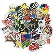 Stillcool� Lot de 100 stickers al�atoires pour ordinateur portable/bagages/v�lo/voiture Motif Musique film vinyle Skateboard/Snowboard