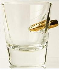 KolbergGlas HandMade Shot Glas mit realem Geschoß- Cal.308 Einzigartige Geschenkidee