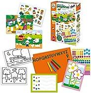 Diset 3 años Juguete educativos Colorea Con Pegatinas (68958) , color/modelo surtido