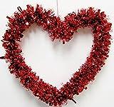 Valentinstag rot Herz Girlande 30,5cm