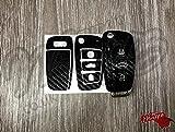 Enveloppe noire en fibre de carbone pour télécommande Audi A1 A3 A4 A5 A6 A8 TT Q3 Q5 Q7