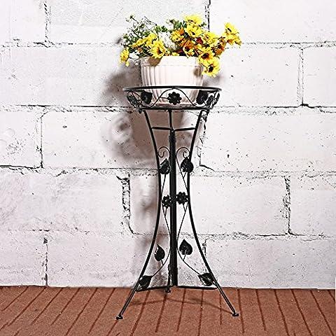 Il ferro battuto si erge piano Soggiorno a strato singolo rack Pot balcone esterno, Scindapsus (Stand Livello Ferro Battuto Impianti)