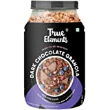 True Elements Chocolate Granola 900g - with 100% Dark Chocolate, Almonds & Whole Cranberries, Granola for Breakfast, Healthy