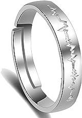 Karatcart Platinum Plated Elegant Adjustable Band Ring For Men