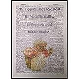 Enesco Beatrix Potter Beatrix Potter quote Vintage diccionario página impresión arte imagen