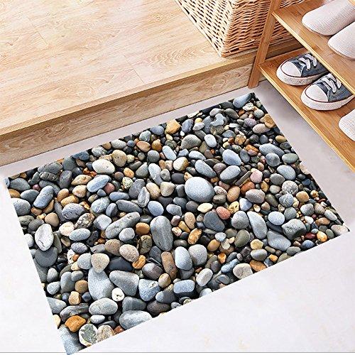 Zegeey 50x70 cm 3D Boden Strand fußabdrücke Wandaufkleber Removable Decals Vinyl Kunst Wohnzimmer Badezimmer Dekore