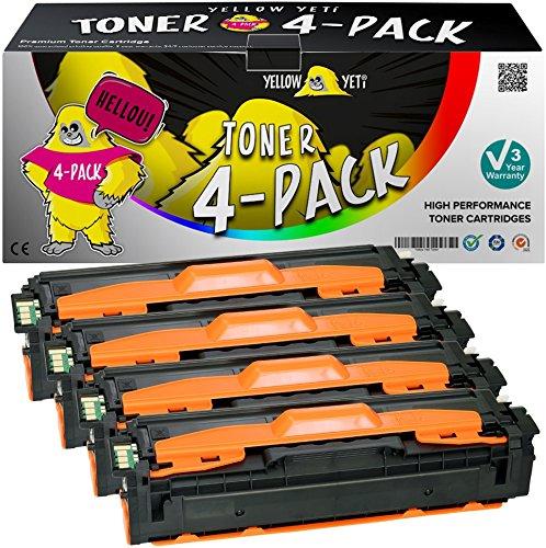 Yellow yeti 4 toner compatibili per samsung xpress sl-c1810w sl-c1860fw clx-4195fn clx-4195fw clp-415n clp-415nw | clt-p504c k504s 2500 copie c504s m504s y504s 1800 copie [3 anni di garanzia]