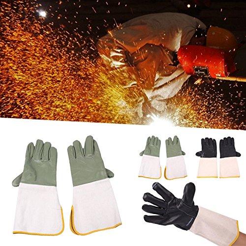 Hanbaili Schweißhandschuhe, 1 Paar Feuerfeste Leder Anti Splash Tig Schweißer Handschuhe Handschuhe Schweißen Sicherheit (Handschuhe Stick-schweißen)