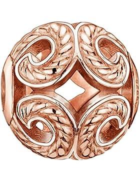 Thomas Sabo Damen-Bead Welle Karma Beads 925 Sterling Silber 750 roségold vergoldet K0009-415-12