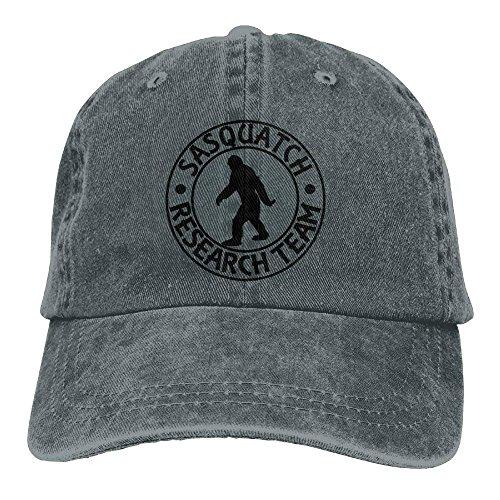 best gift Sasquatch Bigfoot Research Team Plain Adjustable Cowboy Cap Denim Hat for Women and Men Outdoor Research-stretch-cap