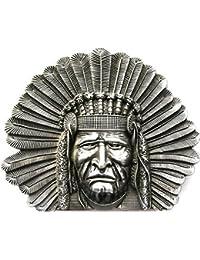 Buckle Indianer, Western, Indian Chief - Gürtelschnalle