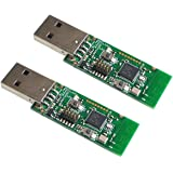 TECNOIOT 2pcs Zigbee CC2531 Sniffer Bare Board Packet Protocol Analyzer Module USB Dongle