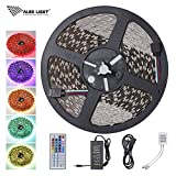 ALED LIGHT Cinta Luminoso SMD 5050 Multicolor RGB 600 LEDs non-étanche 10 metros Banda LED Adapteur Flexible Strip Light con Mando a Distancia
