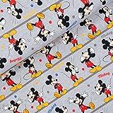 Original Mickey Mouse Lizenz-Jersey - Mickey auf grau -