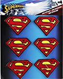 "SUPERMAN 6 pc Logo Set, Officially Licensed DC Comics Originals, High Quality Iron-On / Sew-On, 2"" Embroidered PATCH PARCHE"