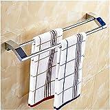 APL-7302 Firm Metal Bathroom Double Towel Bar, Chrome