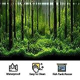 Póster con Diseño de Bosque para Decoración de Pecera, Verde, Paneles Foto Posterior, Etiqueta Fondo Pegatina Pecera Pared Acuario, 5 Tamaños(Los 91 * 50cm)