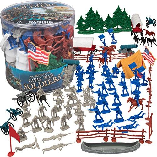SCS Direct Bürgerkrieg Armee Männer Action Figuren Jouetss großen Eimer von Soldaten des Bürgerkrieges, Set mehr als 100 Stück