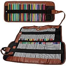 Lápices de colores Organizador, Senhai 48 Ranura 72 Ranura + Lápiz bolsa de mano / abrigo enrollable bolsa para la escuela, la oficina, Viajes
