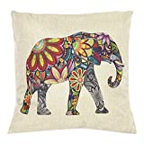"Bluelans® Flower Elephant Square Throw Pillow Case Decorative Cushion Cover Pillowcase 17"" x 17"" (17 x 17, #11)"