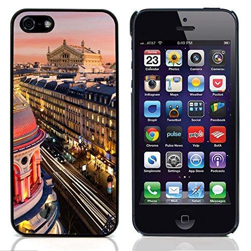 Graphic4You Paris At Night Skyline View Postkarte Ansichtskarte Design Harte Hülle Case Tasche Schutzhülle für Apple iPhone 5 und 5S Design #13