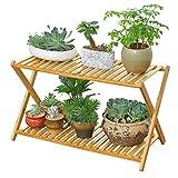 Piontth Multilayer Bambus Falten Balkon Blumenständer Blumenständer Pflanzenbehälter für Wohnzimmer Balkon Schlafzimmer Garten