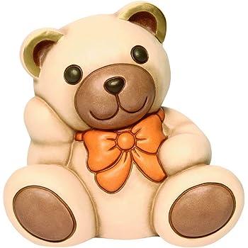 Thun Orso Teddy Aldo Medio Con Fiocco Arancione Animali